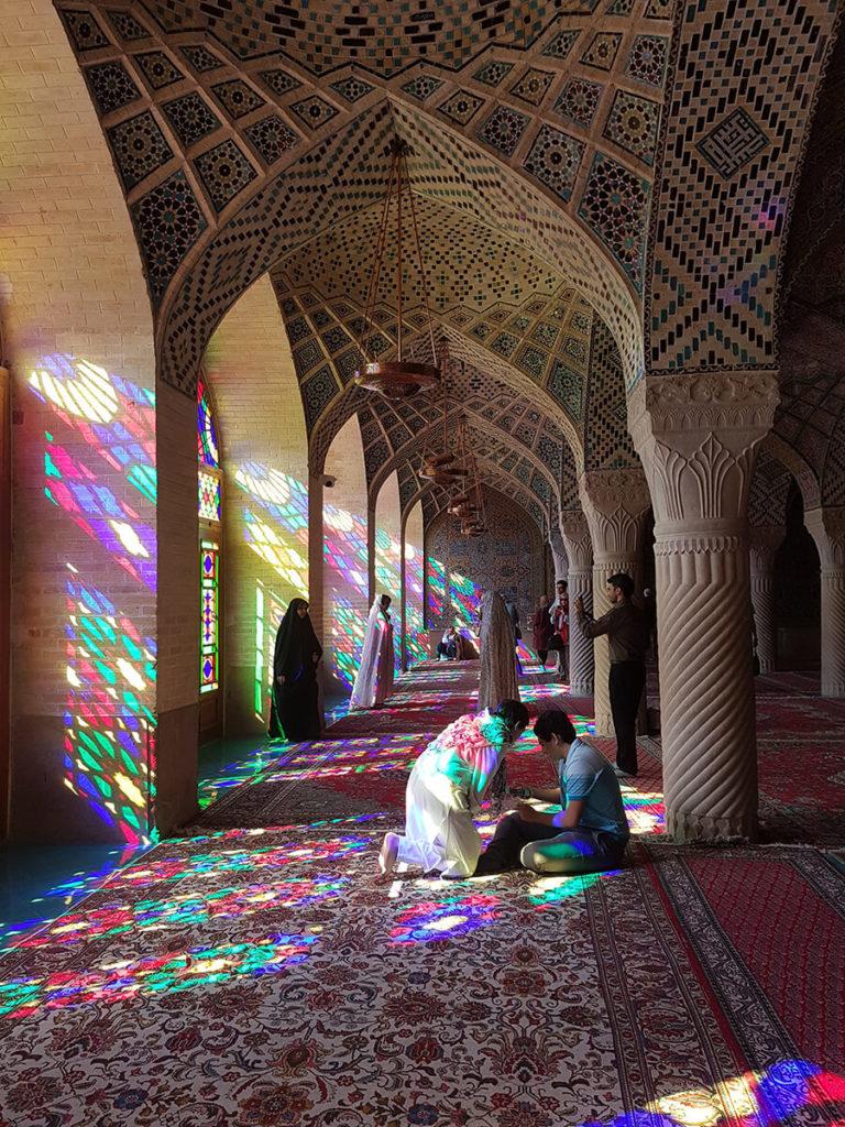 pink mosque shiraz iran tips