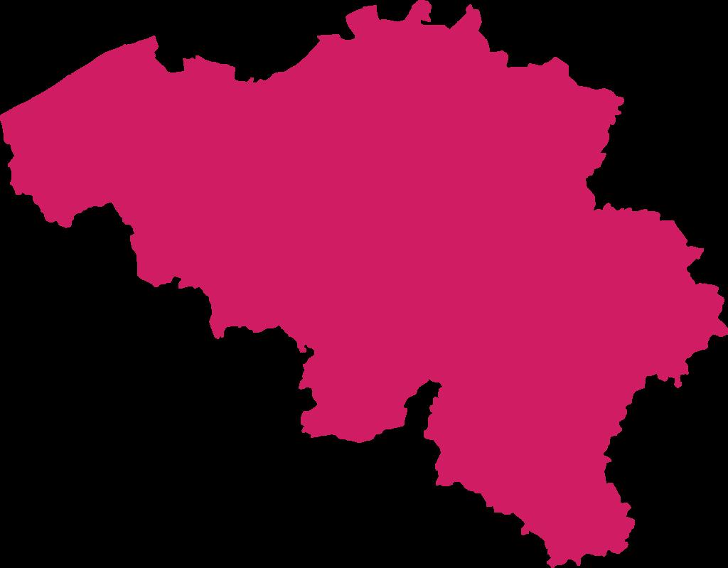 bandiera mappa belgio